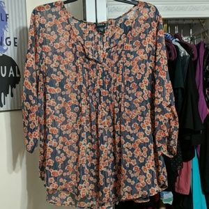 Torrid Pleated Blouse Size 3